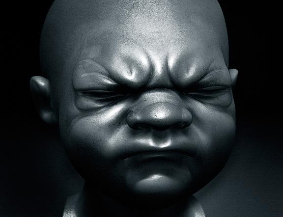 Kūdikėlio veido eskizas