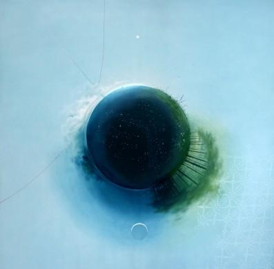 My Personal Universe (Mano asmenine visata), canvas, oil, 150x150cm, 2014