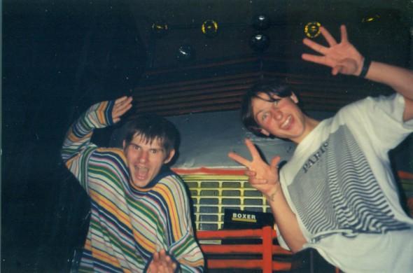 (dešinėje) Rimantas Madžiūnuose 1997 m. - foto: R.Alekna