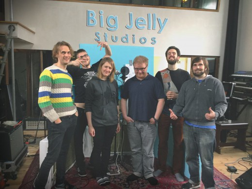 "Andrew Kačanovas su Silverpieces ""Big Jelly"" studijoje - foto: Silverpieces archyvas"