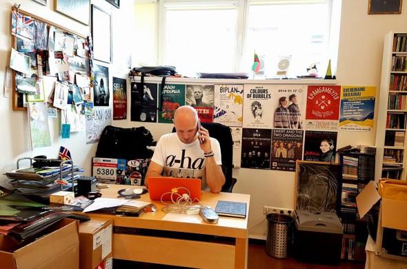 Vaidas Stackevičius savo biure - foto: asmeninis archyvas