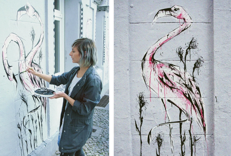 Juli Jah, Minimal Bar sienų flamingai