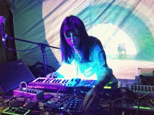 """Eva Geist at """"Cosmic Camp"""" - foto: asmeninis archyvas"""