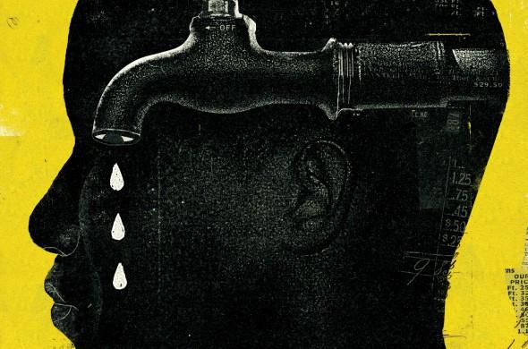 "Curt Merlo iliustracija ""Detroit Water Crisis"""