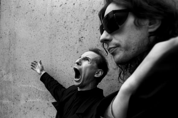 ###Portraits. Petr Mamonov and Aleksei. Moscow 1990.