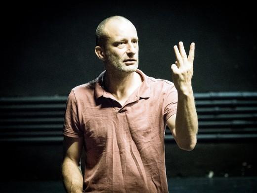"Spektaklio ""Durys"" repeticija su Jo Stromgren - foto: Tomas Ivanauskas"