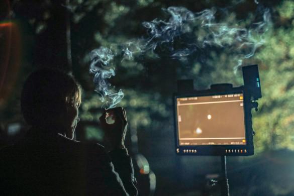 """Titas Sūdžius Garbanoto """"Liūdnos akys"""" filmavimo aikštelėje - foto: Matas Šatūnas"""